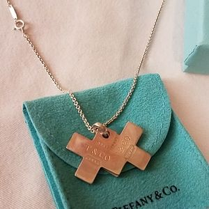 Tiffany &Co  doubled cross necklace.